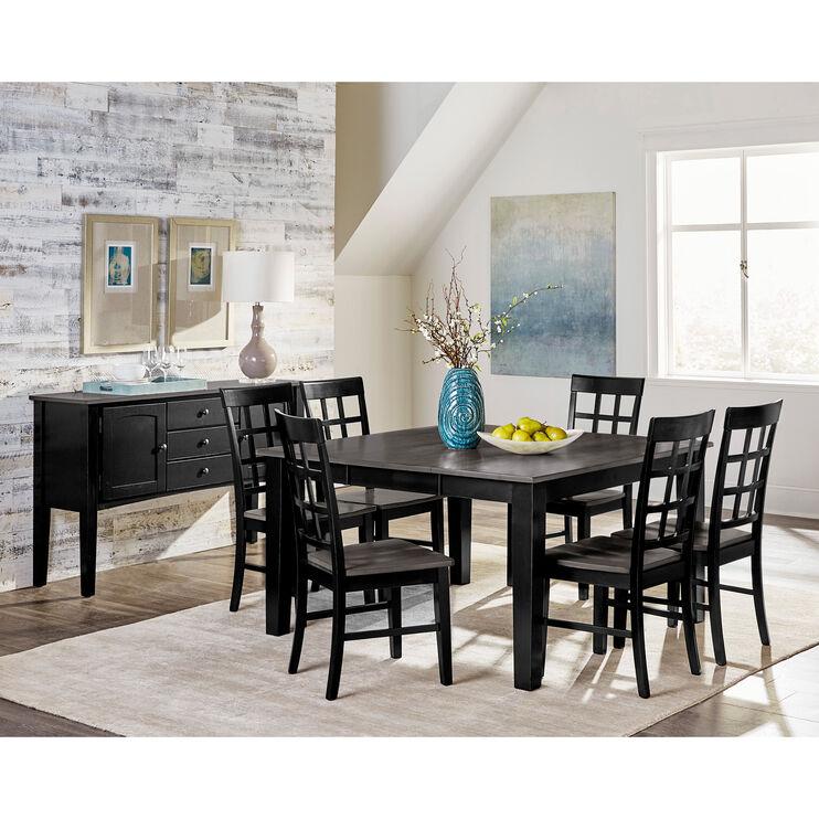 Kinston 5 Piece Gray Dining Set