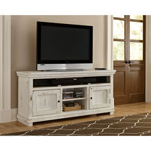 Willow Distressed White 64 Inch Console