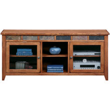 Evanston Antique Oak 64 Inch Console