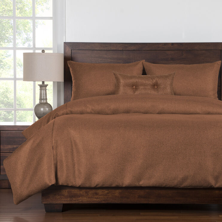Silk Route 5 Piece Ginger Queen Duvet Set