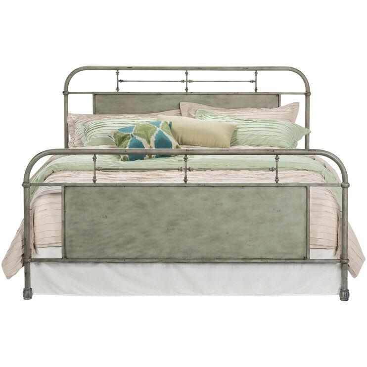 Vintage Green Queen Bed