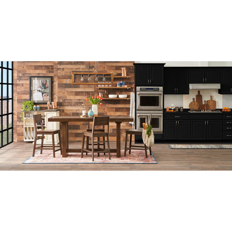 Rye Rustic Brown 5 Piece Counter Height Dining Set