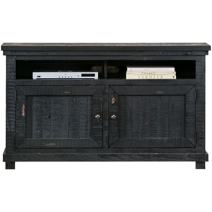 Willow Distressed Black 54 Inch Console