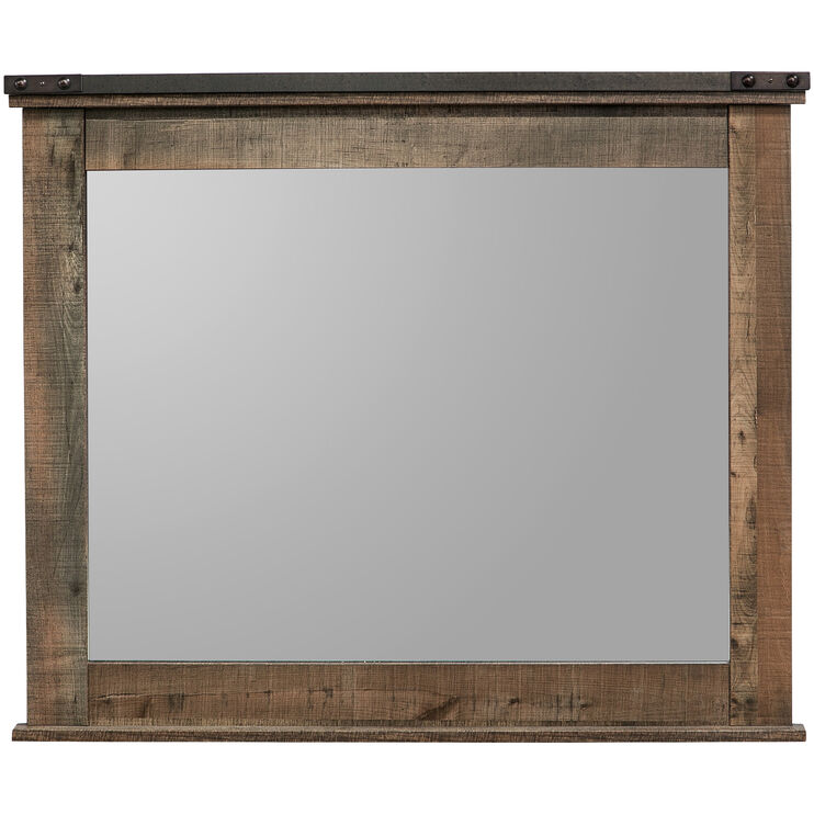 Trinell Rustic Plank Mirror