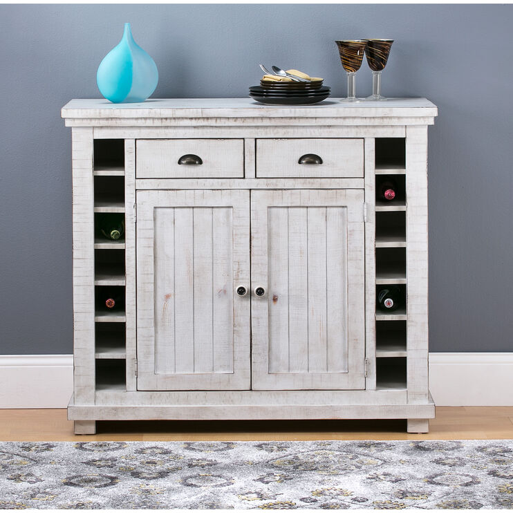 Willow Distressed White Server
