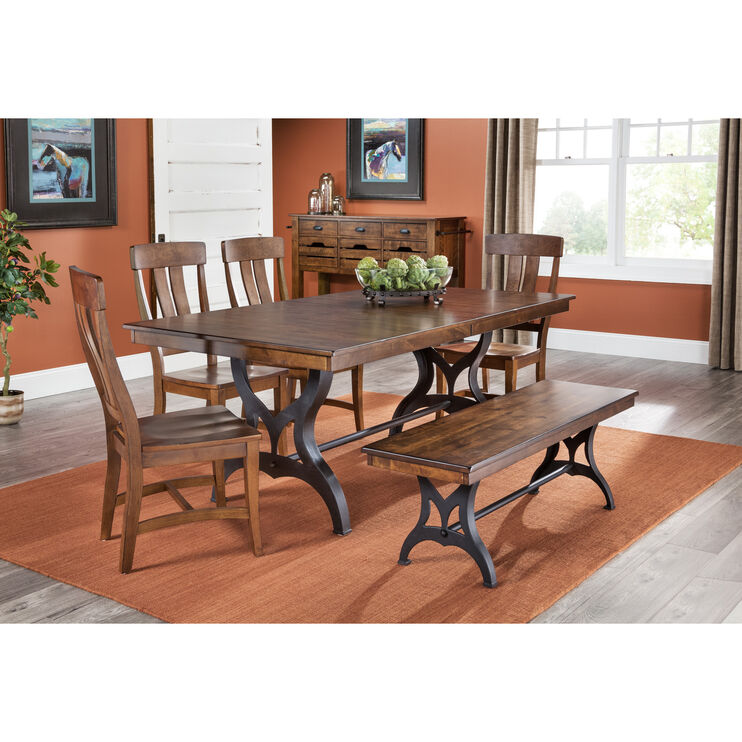 Slumberland Furniture District Copper 5 Piece Dining Set