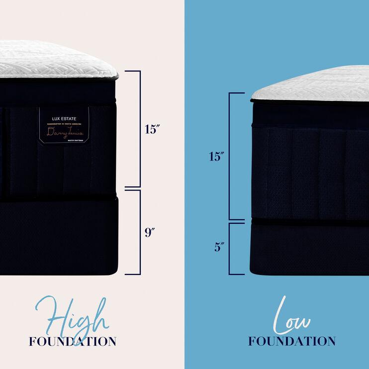 Hybrid Pollock Luxury Cushion Firm Velvet Top Sides Full Mattress