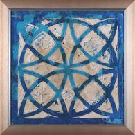 Stained Glass Indigo IV Framed Artwork