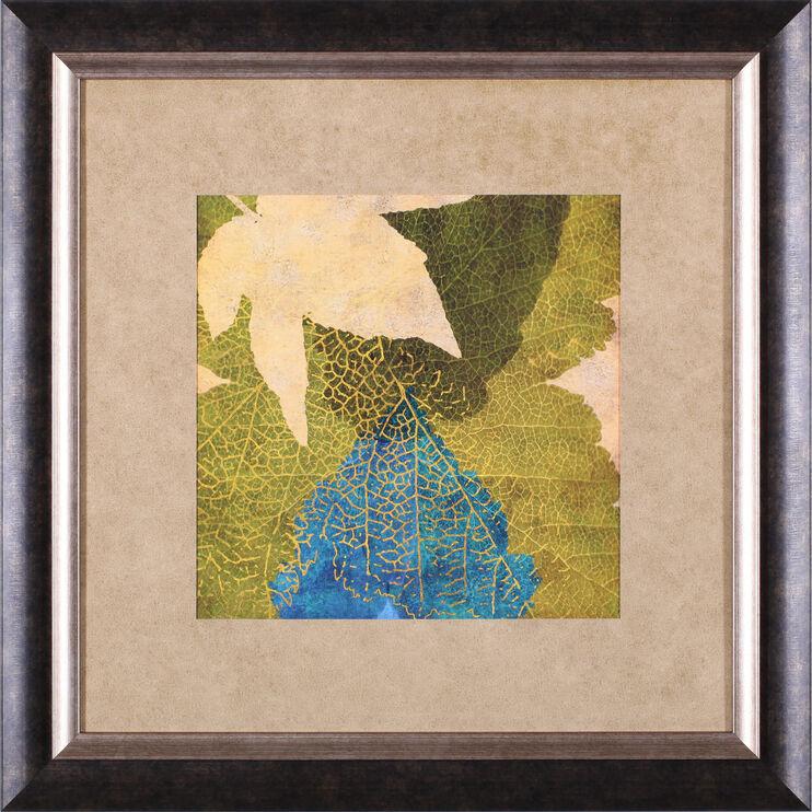 Teal Leaf I Framed Art
