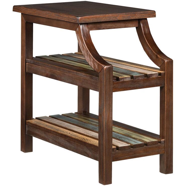 Mestler Brown Chairside Table