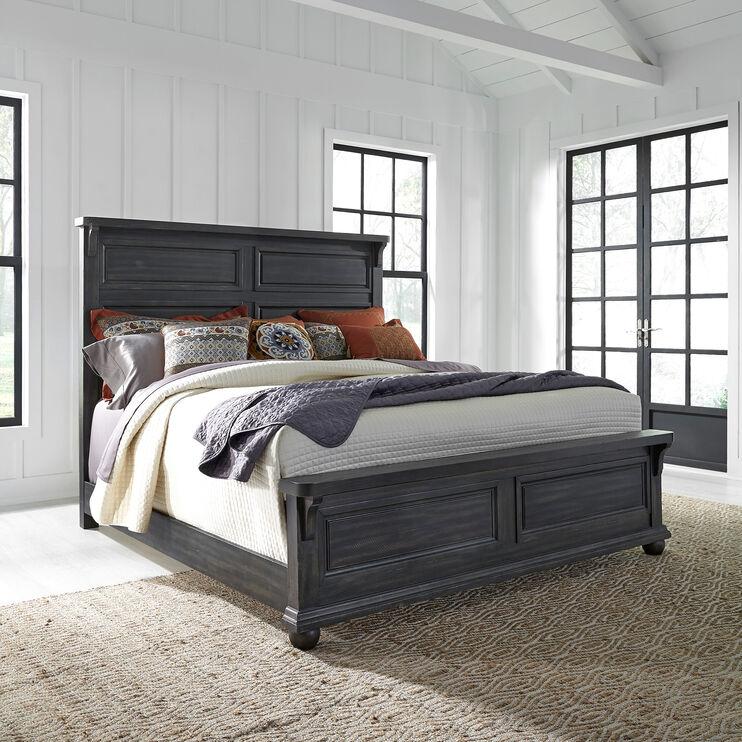 Harvest Home Chalkboard King Panel Bed