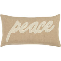 Sentiment Peace Oblong Down Pillow