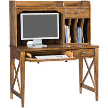 Hearthstone Rustic Oak Desk with Hutch