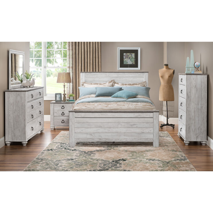 Willowton Whitewash King Bed