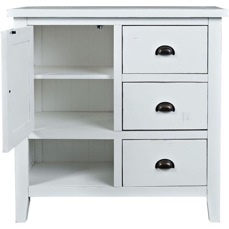 Artisans Craft White Accent Cabinet