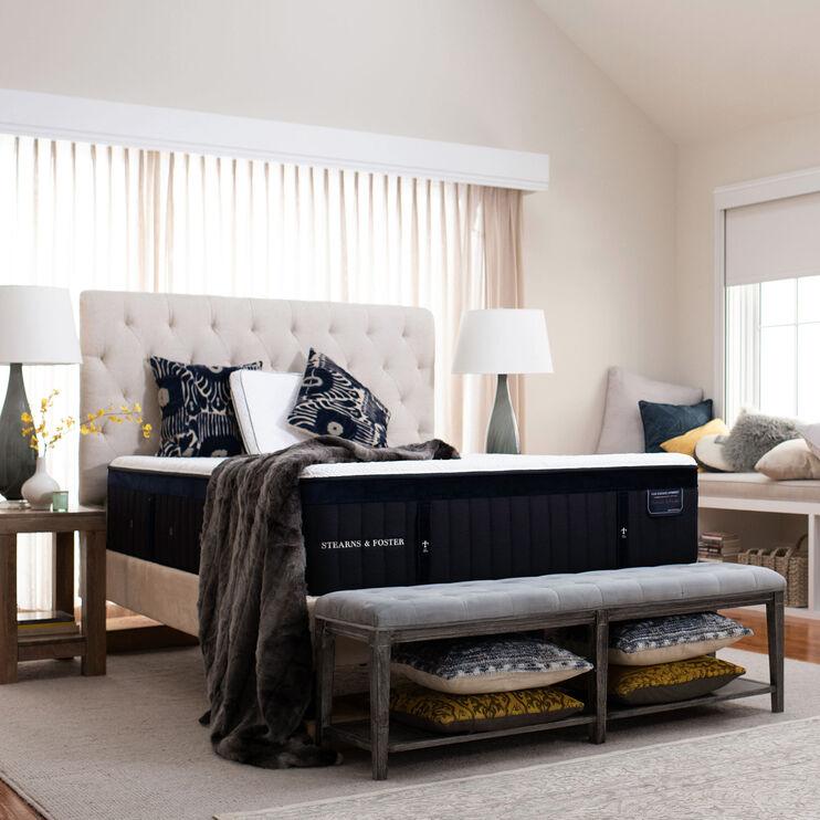 Hybrid Pollock Luxury Cushion Firm Velvet Top Sides King Mattress