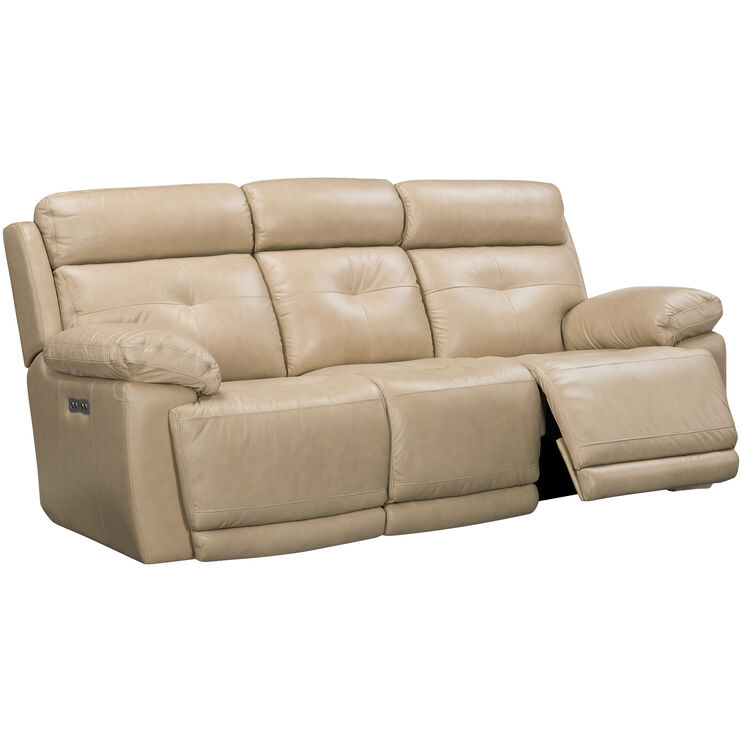 Rhodes Tan Power Plus Reclining Sofa