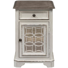 Magnolia Manor Antique White Chairside Table