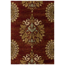 Wild Weave Jacqueline Rouge Red Medallion 8 x 11 Rug