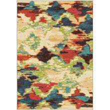 Spoleto Diamond Patches Multi 5 x 8 Rug