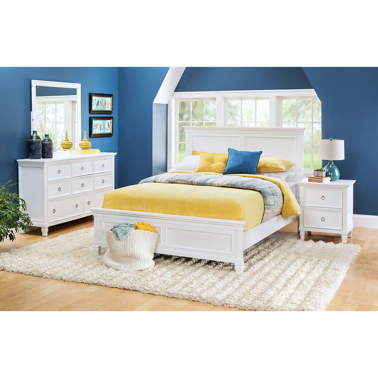Persia II White California King Bed