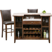 Eileen 3Pc Chestnut Bar & Stools