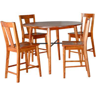 American Modern 5 Piece Counter Dining Set