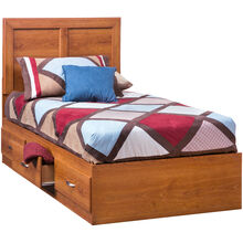 Jacob Oak Twin Panel Captains Bed