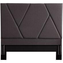 Modern Dark Gray Queen Upholstered Headboard