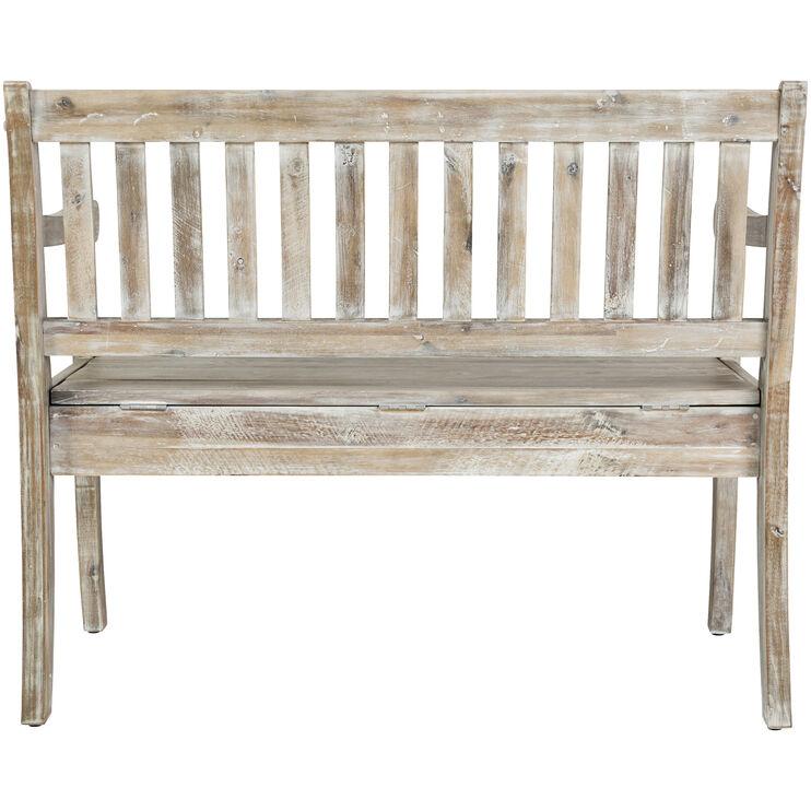 Artisans Craft Gray Wash Storage Bench