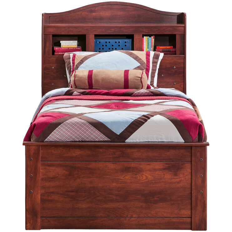 Barchan Brown Twin Bookcase Captains Bed