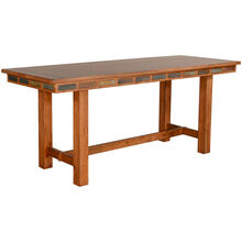 Sedona Rustic Oak Friendship Table