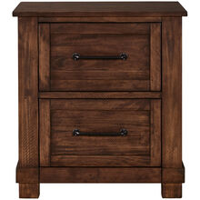 Sun Valley Rustic Timber Nightstand