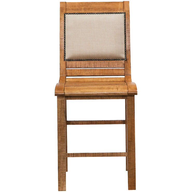 Willow Distressed Pine Counter Chair