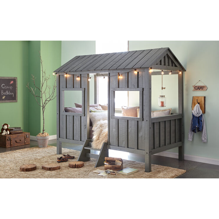 House Gray Twin Bed