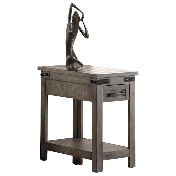 Storehouse Smoke Gray Chairside Table