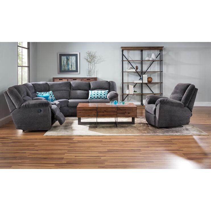 Slumberland Furniture Hillside 2pc Slate Sectional
