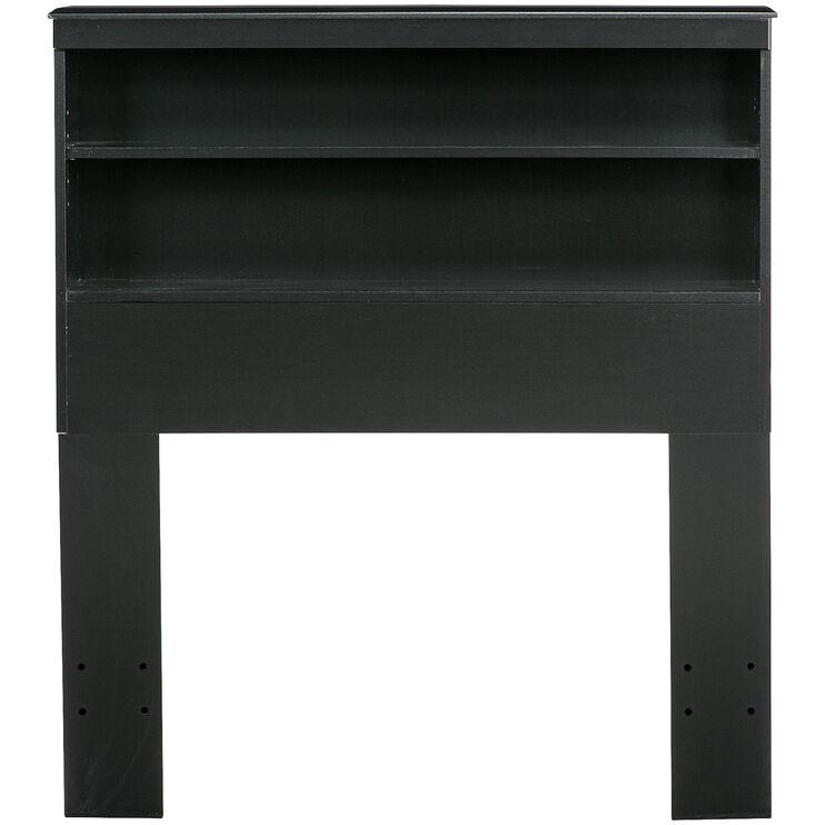Jacob Black Twin Bookcase Headboard