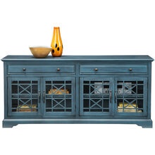 Chilton 70 Inch Antique Blue Console
