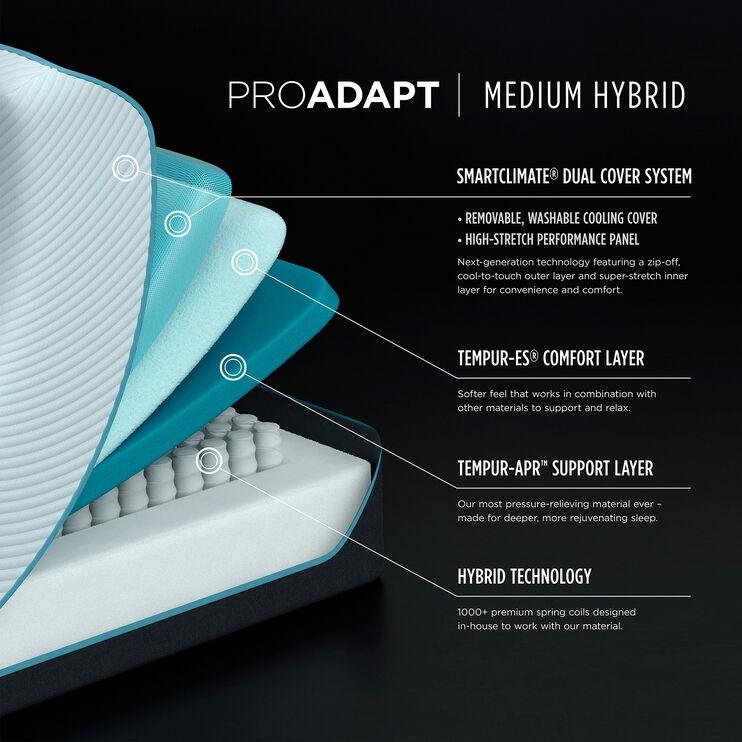 Tempur-Pedic Pro Adapt Medium Hybrid Full Mattress