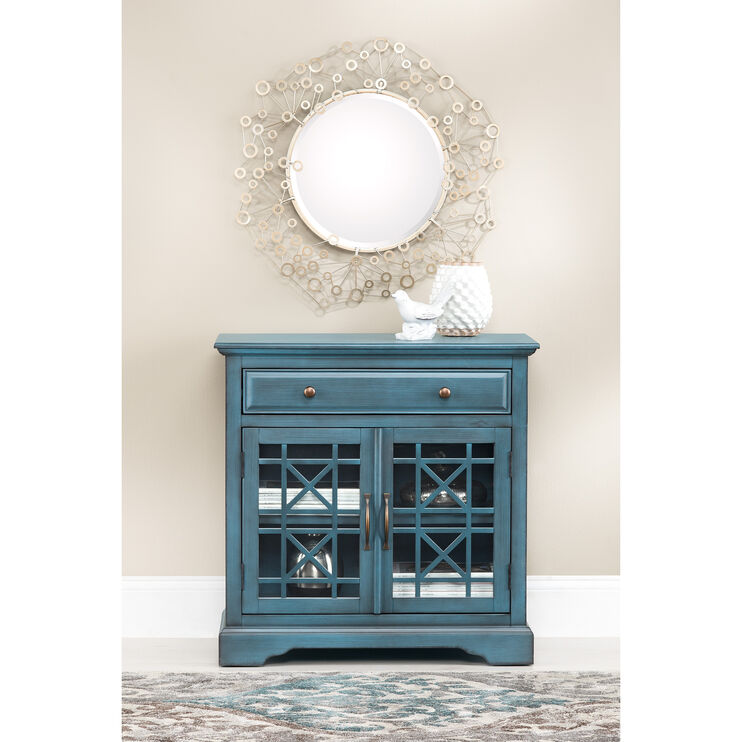 Slumberland Furniture Chilton Antique Blue Cabinet