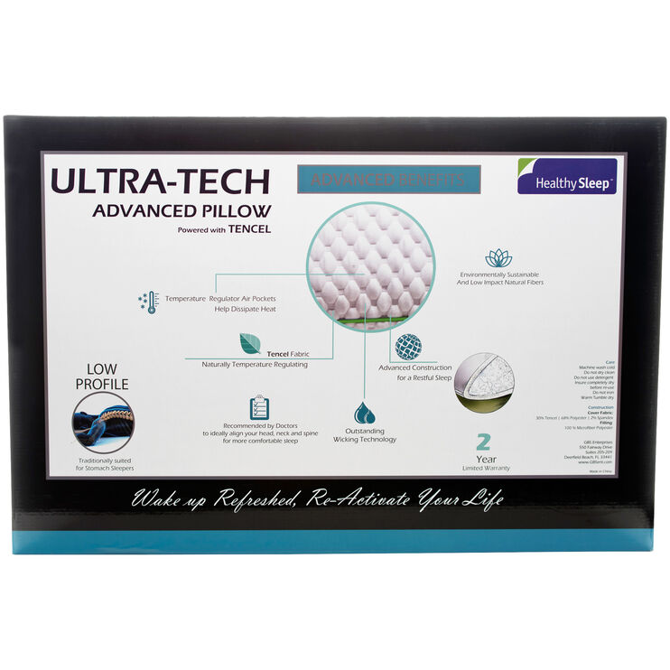Ultra-Tech Queen Low Profile Pillow