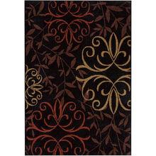 Four Seasons Josselin Black 8 x 11 Rug