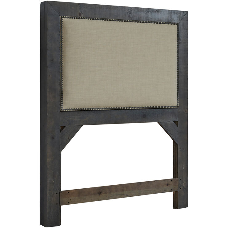 Willow Gray Twin Upholstered Headboard
