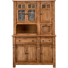 Sedona Rustic Oak Buffet w/Hutch