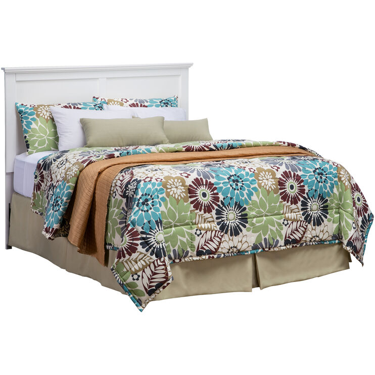 Bostwick Shoals White Queen Headboard