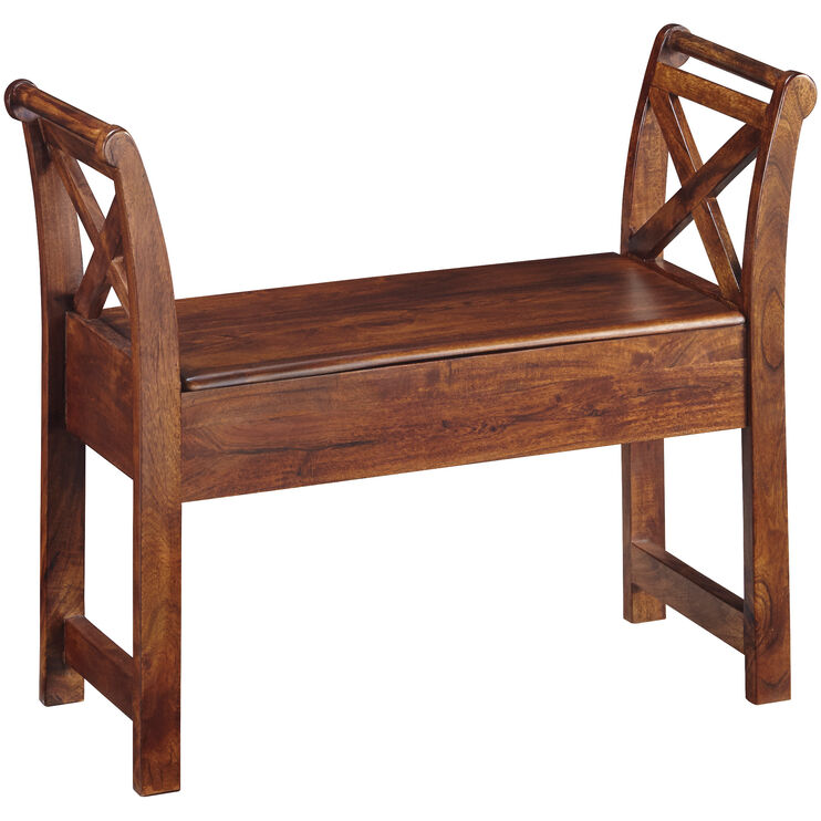 Sebastian Wood Storage Bench