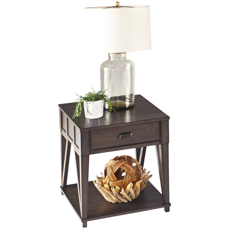 Consort Midnight Oak End Table