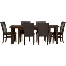 Kona 7 Piece Raisin Parsons Dining Set