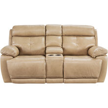 Rhodes Tan Power Plus Reclining Console Loveseat